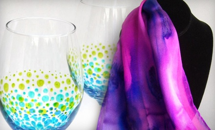 Art & Soul Gallery Studio: Wine Lover's Night Out Glass-Painting Class - Art & Soul Gallery Studio in Windsor