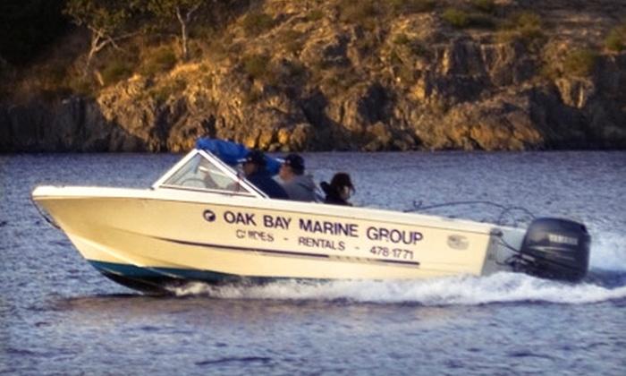 Pedder Bay RV Resort & Marina - Victoria: Four-Hour Boat Rental at Pedder Bay RV Resort & Marina. Two Options Available.