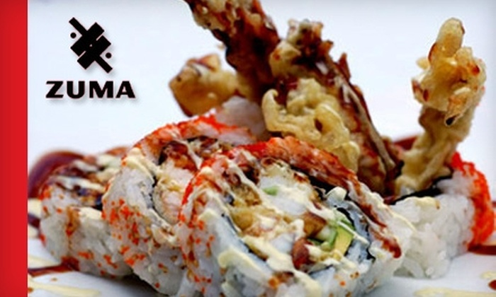 Zuma Sushi - Multiple Locations: $15 for $35 Worth of Sushi, Sake, and More at Zuma Sushi