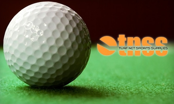 Turf Net Sports Supplies - Welland: $25 for Golf Simulation and Supplies Package at Turf Net Sports Supplies ($56 Value)