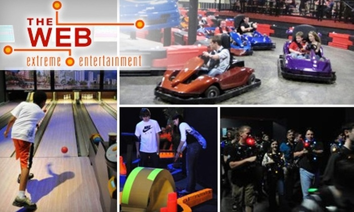 THE WEB Extreme Entertainment - Liberty: $6 for $14 Worth of Laser Tag, Indoor Go-Karts, Mini-Bowling, Blacklight Mini-Golf, and More at THE WEB Extreme Entertainment
