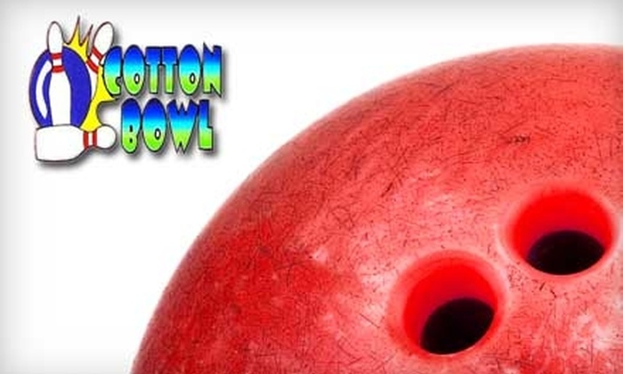 Cotton Bowl Lanes - Southaven: $32 for Two Hours of Bowling for Six People and Two Pitchers of Beer at Cotton Bowl Lanes