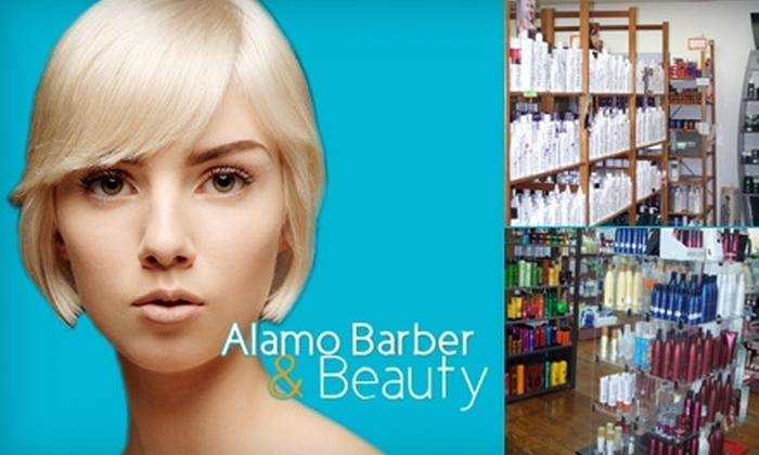 Alamo Barber & Beauty - Alamo Heights: $18 for a Haircut and Style Plus $15 Worth of Products at Alamo Barber & Beauty