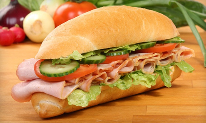 Mr. Pickle's Sandwich Shop - Millbrae: $9 for Sandwiches for Two at Mr. Pickle's Sandwich Shop in Millbrae (Up to $17.98 Value)