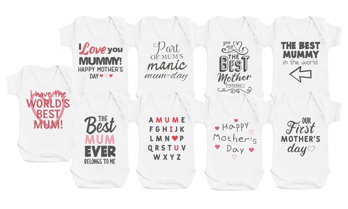 Mother's Day Babygrows