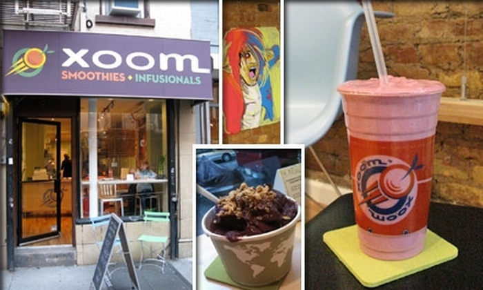 Xoom NYC - East Village: $3 for Any Smoothie or Spoon Plus One Upgrade at Xoom NYC (Up to $7.75 Value)