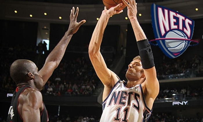 """New Jersey Nets - Newark Central Business District: $35 for NJ Nets """"Red Seating"""" Tickets ($100 value) or $75 for NJ Nets """"Blue Seating"""" Tickets ($200 Value)"""