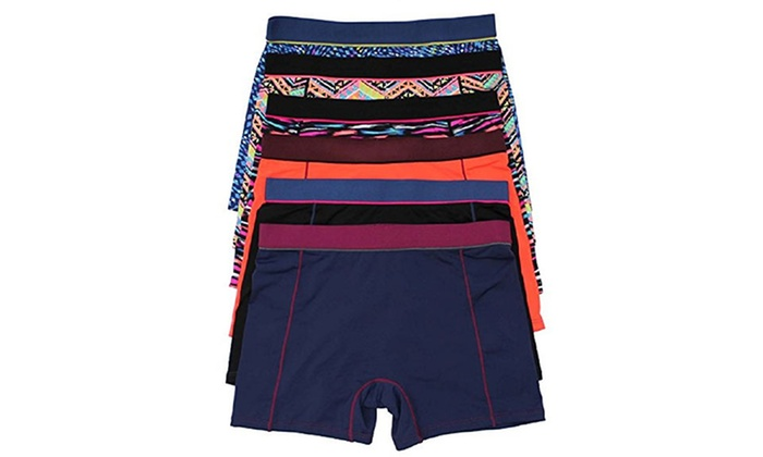 Women's Printed Active Shorts (6-Pack)