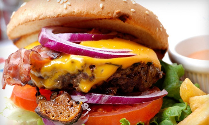 Harvey's Cafe - Business District,Bricktown,Downtown: $5 for $10 Worth of Burgers, Sandwiches, and Breakfast Fare at Harvey's Cafe