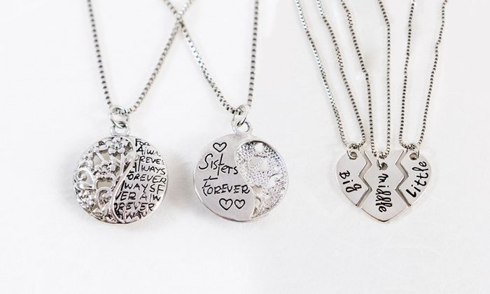 Sisters forever necklace collection from stamp the moment groupon stamp the moment sisters forever necklace collection from stamp the moment mozeypictures Gallery