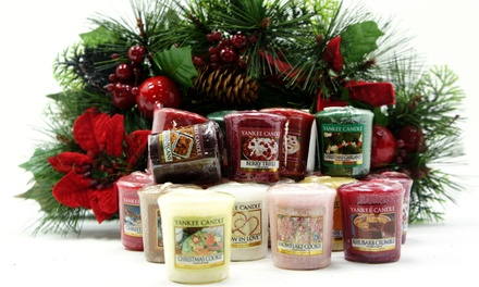 Set of Ten Yankee Candle Festive Votive Candles