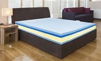 Materasso Memory Plus Top a 4 strati con rivestimento in Aloe Vera e con cuscini, disponibile in varie misure
