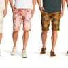 Men's Casual Printed Cotton Chino Shorts with Pockets