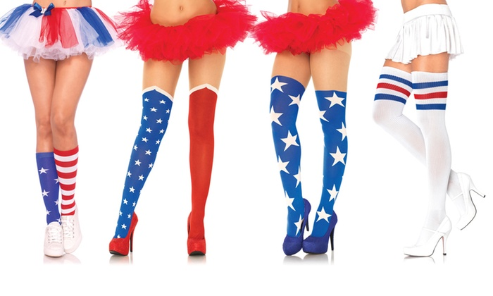 cbe8657e50b Stars and Stripes Socks and Tights