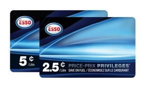 Esso: Esso PRICE PRIVILEGES Fuel Savings Card (Up to 30% Off), Valid Throughout Canada