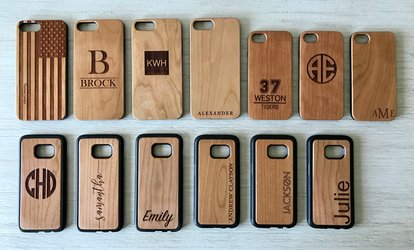 Personalized items deals coupons groupon image placeholder image for up to 87 off personalized wood cell phone cases from qualtry negle Images