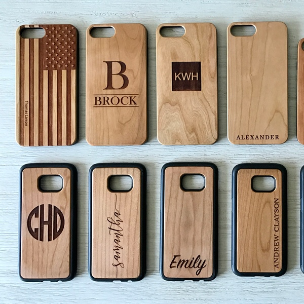 937def843f One, Two, Three, Five, or Ten Personalized Wood Cell-Phone Cases from  Qualtry (Up to 87% Off)