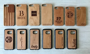 Up to 87% Off Personalized Wood Cell-Phone Cases from Qualtry