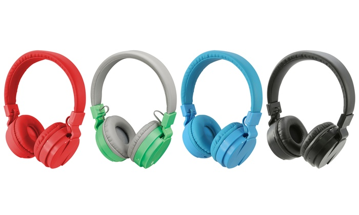 0a66eb29b77 iLive Portable Foldable Wireless Bluetooth Over-Ear Headphones | Groupon