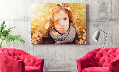 image for Personalised Photo Canvas in a Choice of Size from Printerpix (Up to 80% Off)