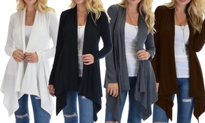 Lyss Loo Simply Amazing Ribbed Cardigan. Plus Sizes Available.
