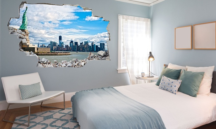 Vinyl D Bed Headboard Groupon Goods - 3d effect wall decals