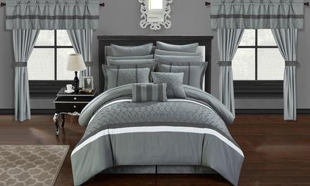 Chic Home Topaz Complete Bedroom-in-a-Bag Comforter Set (24-Piece)