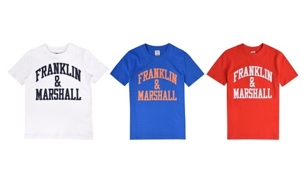 3 camisetas estampadas con logo de Franklin and Marshall