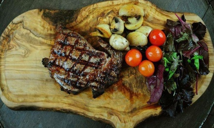 Choice of Steak Meal with Glass of Wine for Two or Four at Brew and Brisket Steakhouse