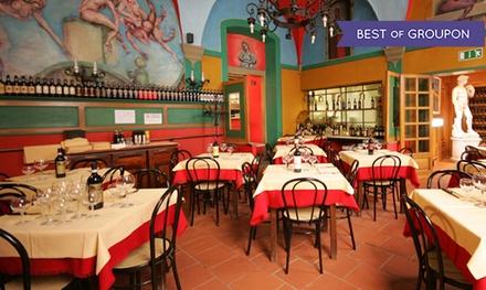 Menu tipico toscano e Chianti, centro città