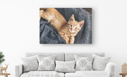 image for Personalised Canvas in a Choice of Size from Printerpix (Up to 70% Off)