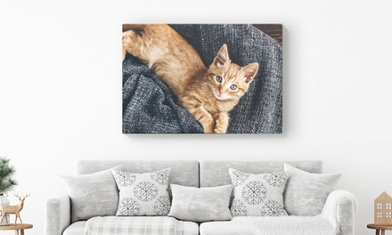 Personalised Canvas in a Choice of Size from Printerpix (Up to 80% Off)