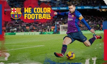 Paga 1 € por un descuento de 50% en entrada para partidos del Barça los días 16 de febrero y 9 de marzo
