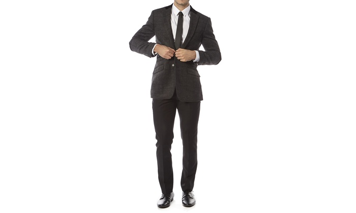 Alberto Cardinali Wool Blend Tailored Fit Sports Blazer