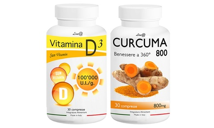 Fino a 720 capsule di Curcuma 800 e Vitamina D3 Lineadiet per la riduzione dell'appetito