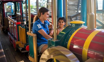 image for Play Group Entry with Carousel or Train Ride for One Child: 1 ($8) or 5 Passes ($39) at The Beachouse (Up to $62 Value)
