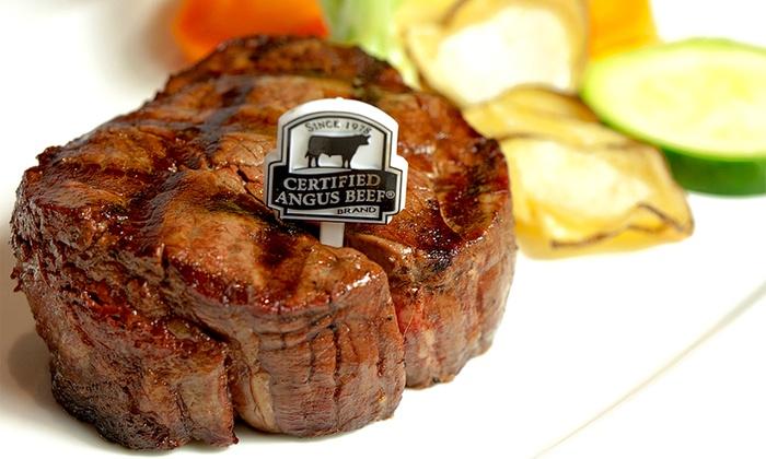 Day & Night Angus Steak & Raw Bar - Day & Night Angus Steak & Raw Bar: C$89 for Six-Course Steak or Seafood Dinner for Two at Day and Night Angus Steak and Raw Bar(C$170 Value)