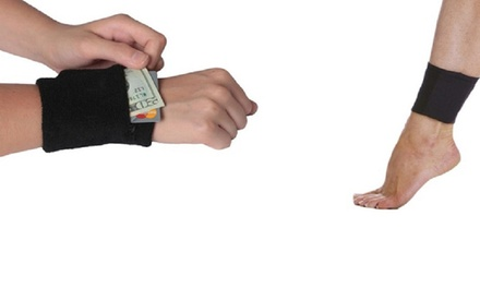 Muñequera cartera con cremallera por 2,99 € (87% de descuento)