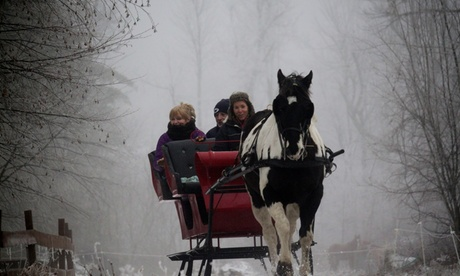 Private Sleigh Ride with Hot Chocolate and S'mores Available at Cornerstone Ranch (Up to 36% Off). Two Options.