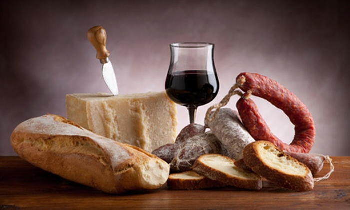 King's Crossing Vineyard and Winery - Multiple Locations: $11 for Bottle of Wine and Cheese and Sausage Plate at Kings Crossing Vineyard and Winery in Glenwood (Up to $21.95 Value)