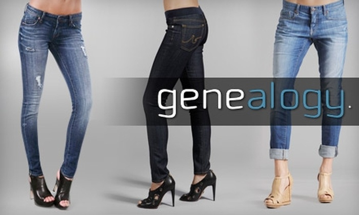 Genealogy - Mission: $50 for $110 Worth of Premium Denim and More at Genealogy