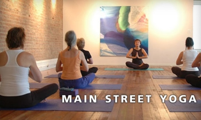 Main Street Yoga - Cincinnati: $20 for Three Classes at Main Street Yoga (A $45 Value)