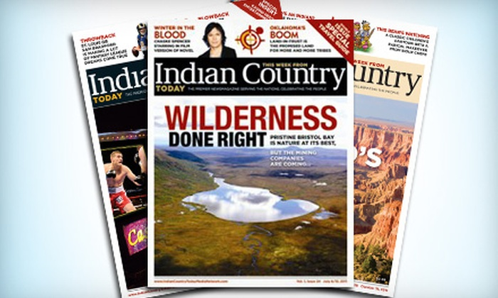 "Indian Country Today Media Network: $10 for a Subscription to ""This Week from Indian Country Today"" from Indian Country Today Media Network ($19.97 Value)"