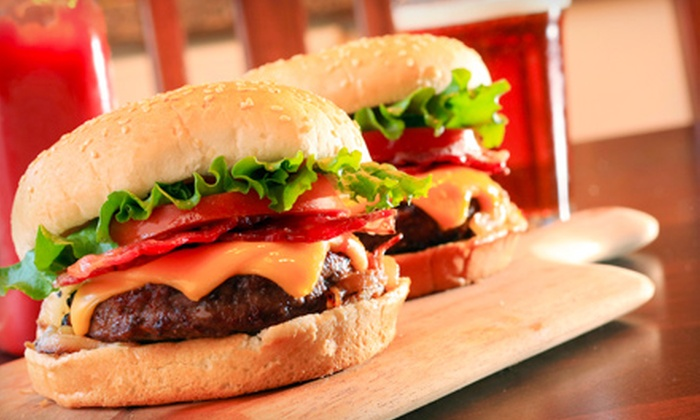 Perfect Game Sports Bar - Palm Springs Plaza: Burgers or Chicken Sandwiches and Beer for Two or Four at Perfect Game Sports Bar in Coral Springs (Up to 59% Off)