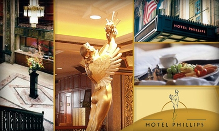 Hotel Phillips - Kansas City: $99 for a Superior Room, a Bottle of Wine, Full Breakfast for Two, and Parking ($213 Value)