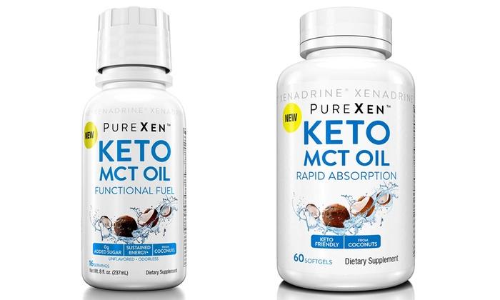 Xenadrine PureXen Keto MCT Pills (60-Count) and MCT Oil (8 Oz )