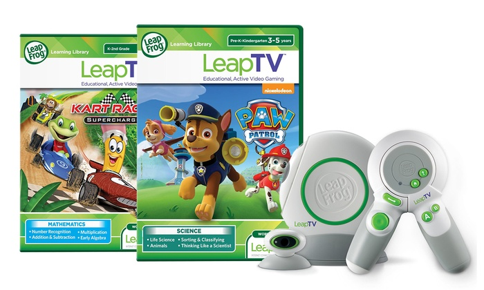 LeapFrog LeapTV Educational Game System and Games | Groupon