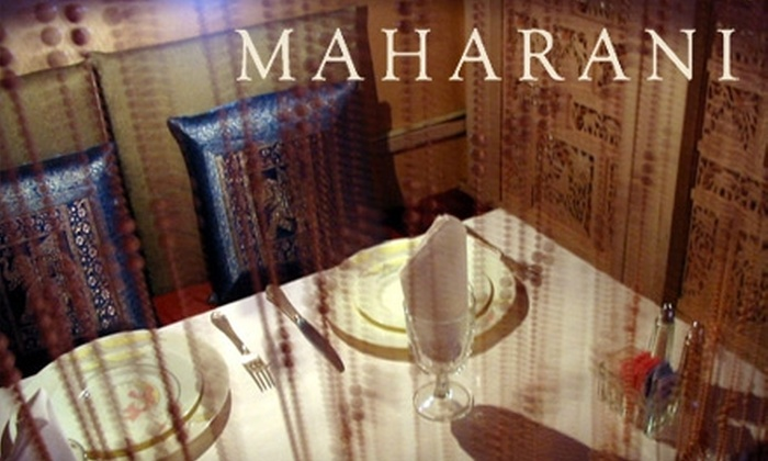 Maharani Restaurant - Civic Center: $25 for $50 Worth of Prix-Fixe Dining (or $15 for $30 Worth of Indian Fare and Drinks) at Maharani Restaurant
