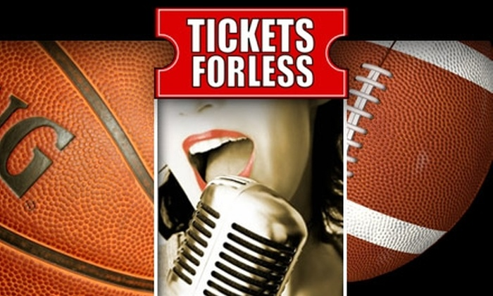 Tickets For Less: $15 for $35 Worth of Sports, Concert, or Theater Tickets from Tickets For Less