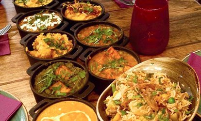 image for Three or Six Street Food Curry Dishes with Rice and Naan to Share at Usha's Indian Street Food (Up to 63% Off)
